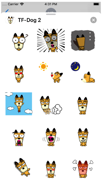 TF-Dog 2 Stickers Screenshot