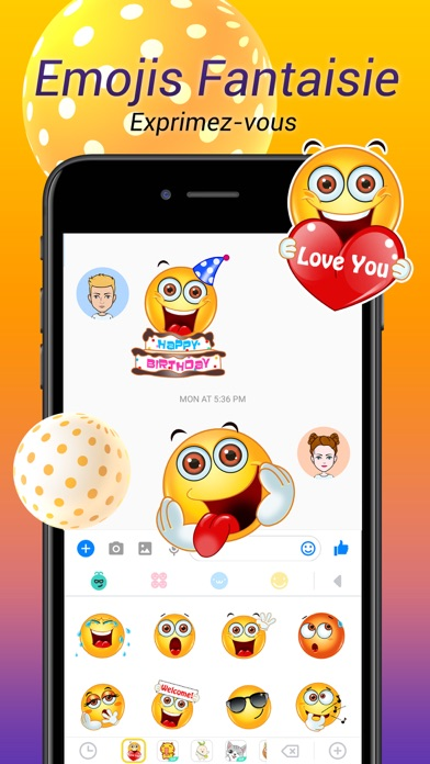 Herunterladen Avatar Keyboard-Themes, Emojis für Android