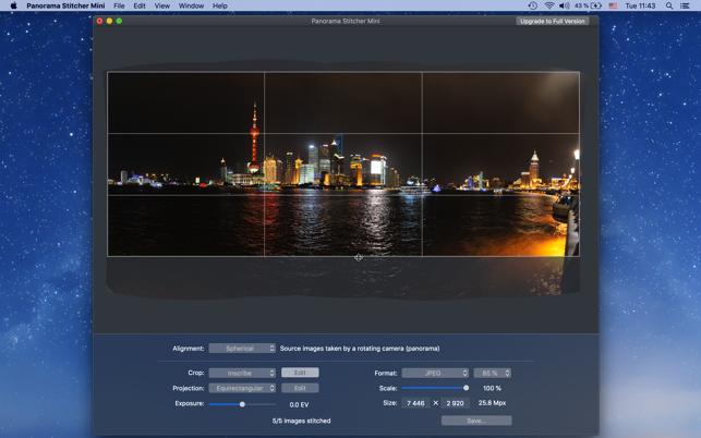 panorama photo stitcher mac free