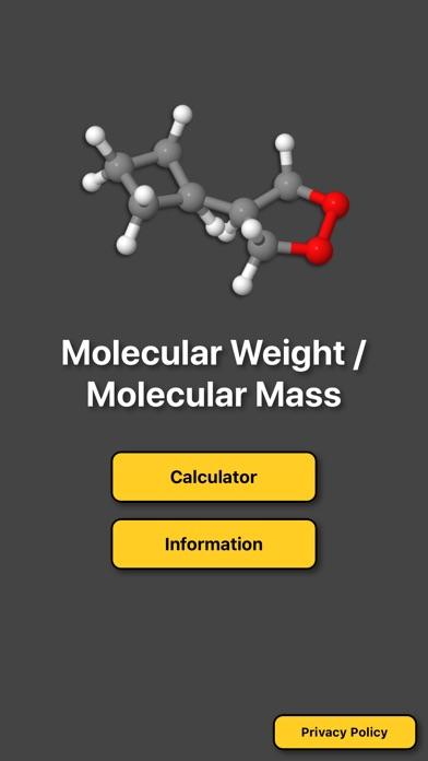 Molecular Mass Weight Calc app image