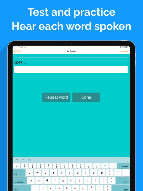 Spelling Notebook Free screenshot