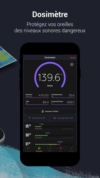 Screenshot #3 pour Décibel X - dB Sonomètre