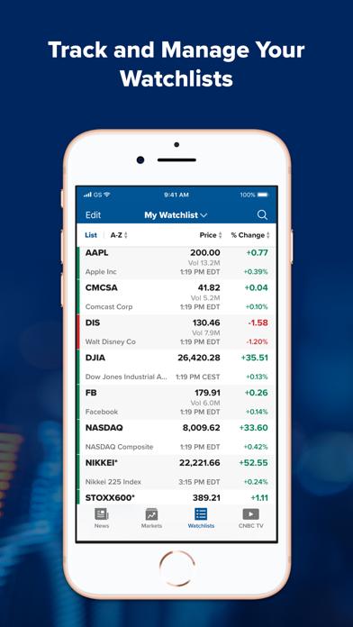 CNBC: Stock Market & Business Screenshot