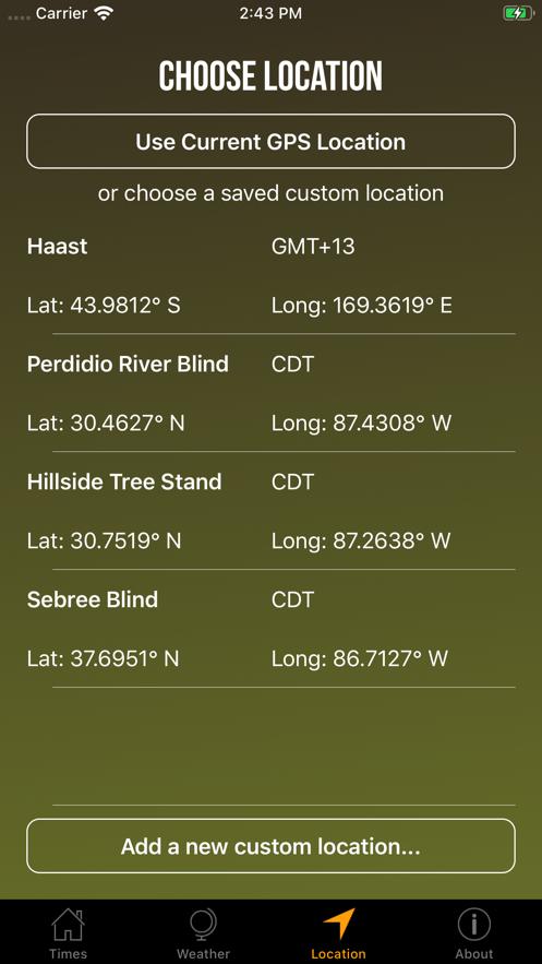 Solunar Best Hunting Times App 截图