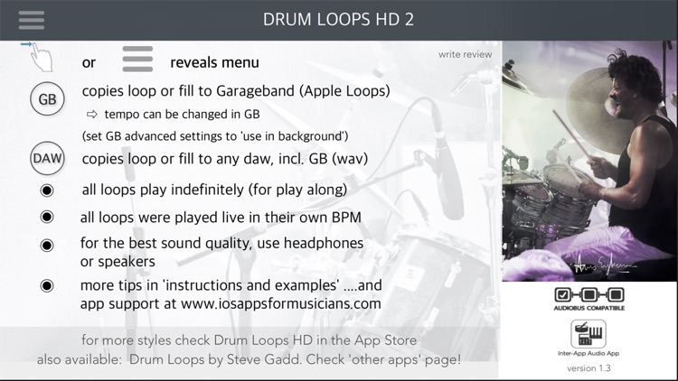 Drum Loops HD 2 screenshot-0