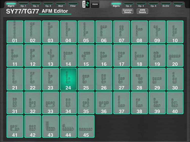MD77: Yamaha SY77/TG77 Editor screenshot-4