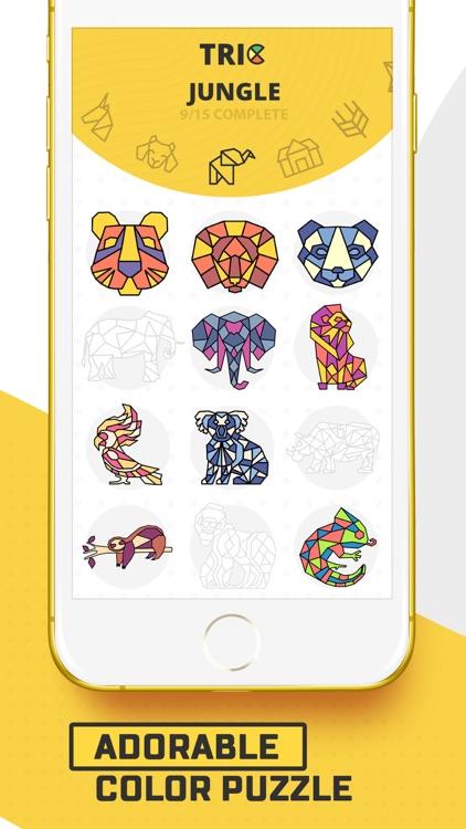 Trio - Polygon Coloring Puzzle