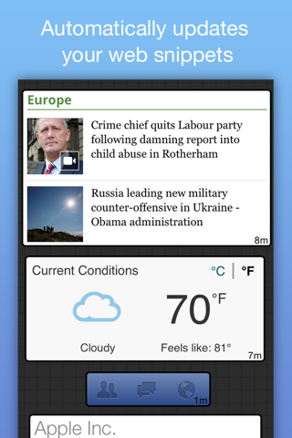 NetSnips: Web Clips Dashboard - náhled