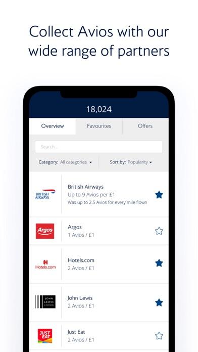 British Airways Executive Club screenshot two