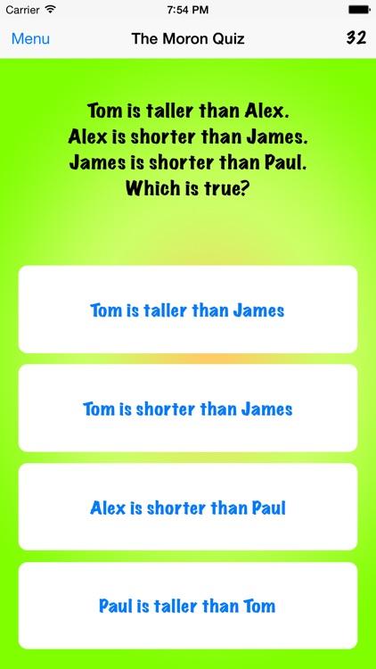 The Moron Quiz screenshot-3