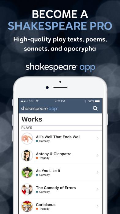 Shakespeare screenshot three