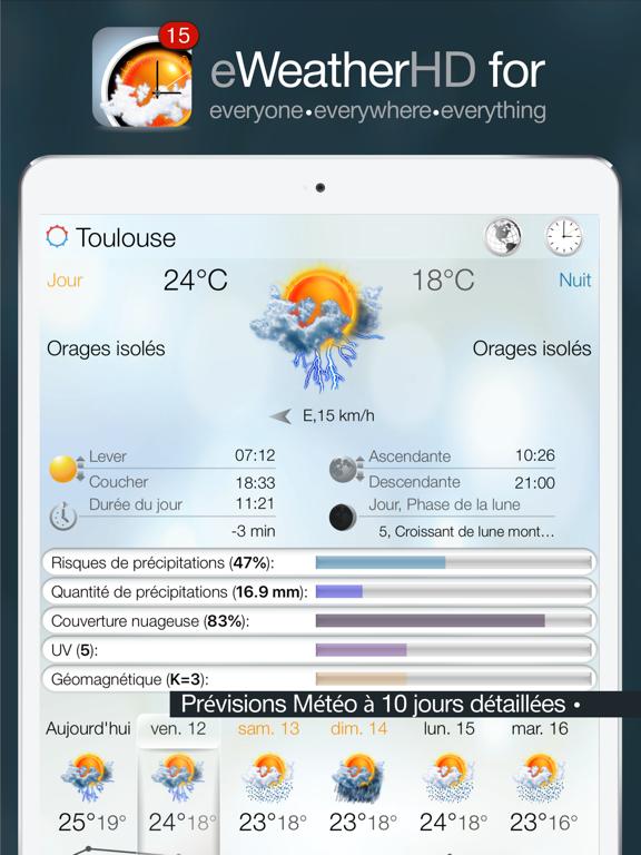 Screenshot #4 pour eWeather HD: Météo, Vigilance