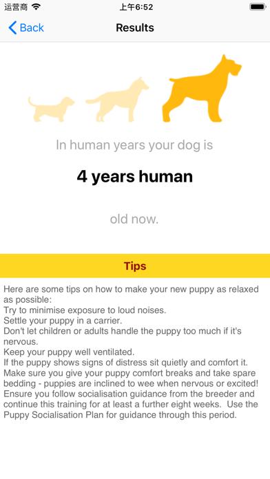 Dog Age calculator screenshot 2