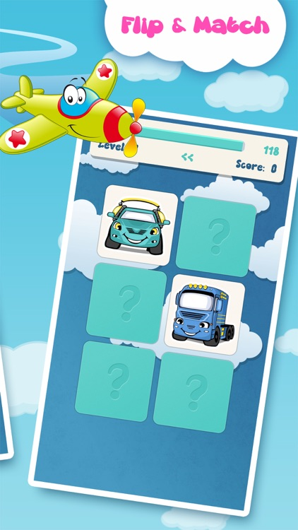 Matching family game: Cars screenshot-4