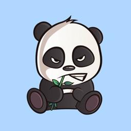 Gangster Panda Stickers