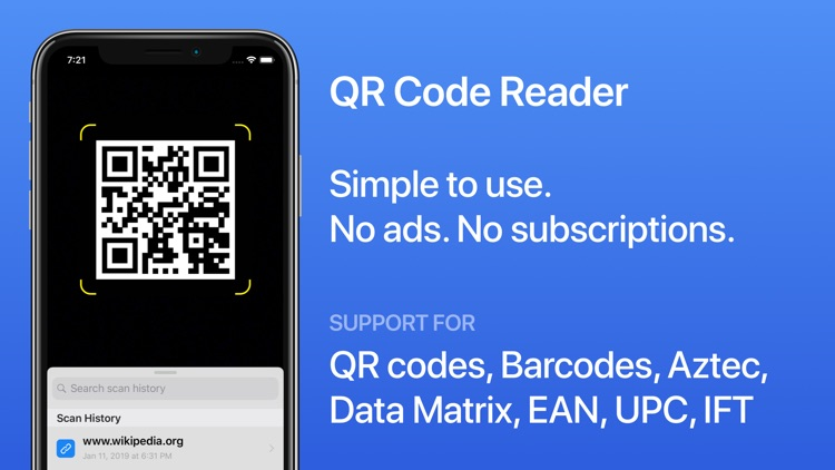 QR Code Reader for iOS