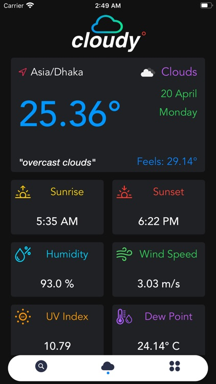 Cloudy - Weather forecast.