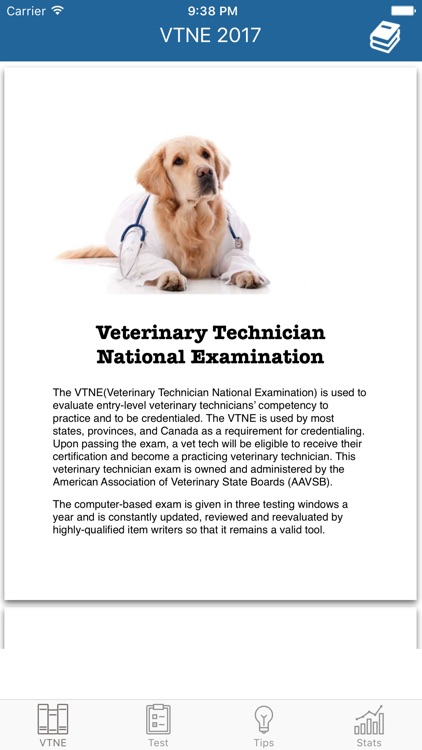 VTNE - Veterinary Exam Tests