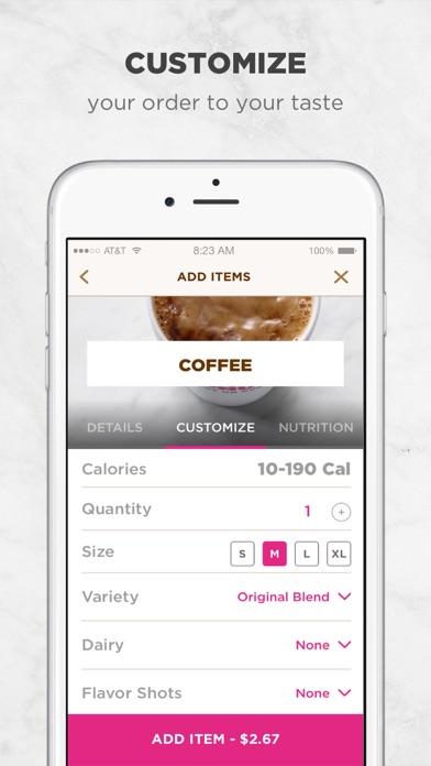 Dunkin' Donuts Screenshot on iOS