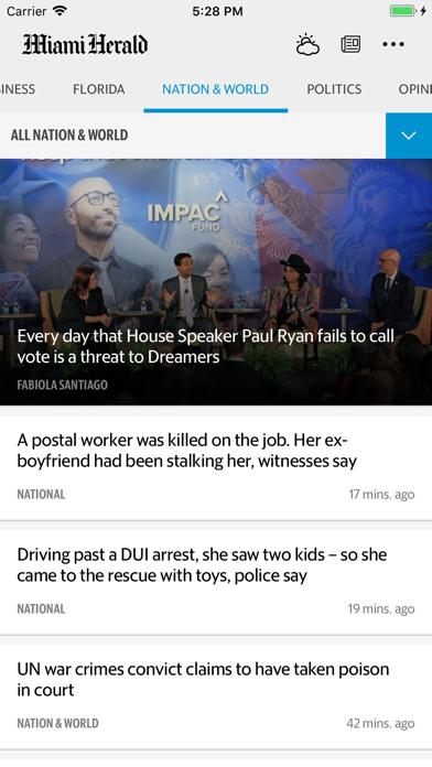 Miami Herald News review screenshots