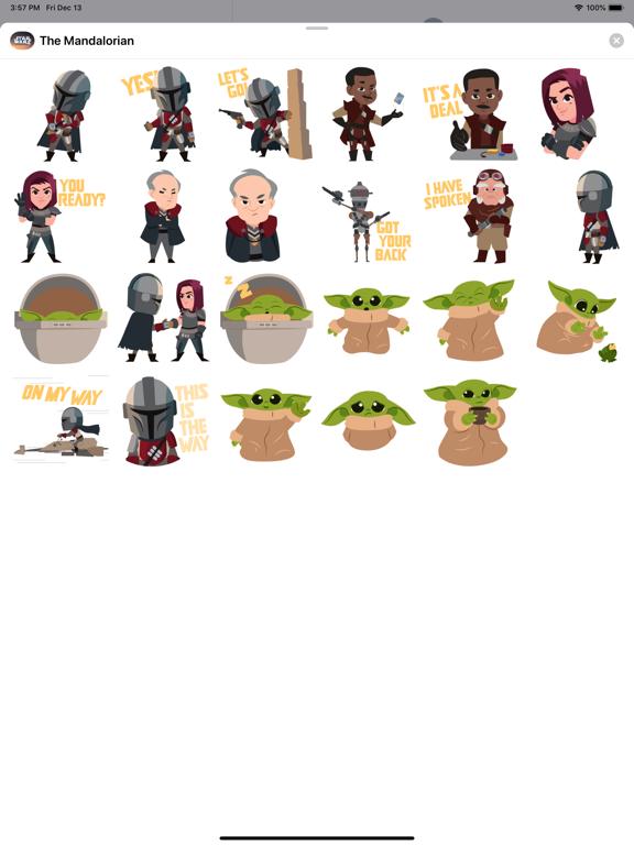 The Mandalorian Stickers screenshot 8