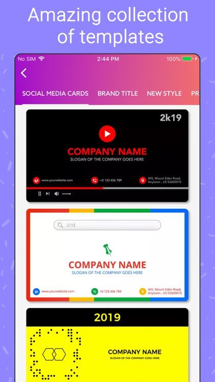 Business Card Maker, Creator screenshot-3
