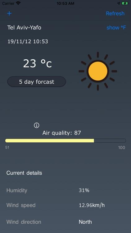 Clean AirWeather screenshot-3