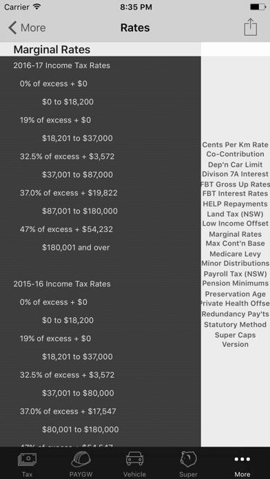 my Tax Calculator Australia screenshot three