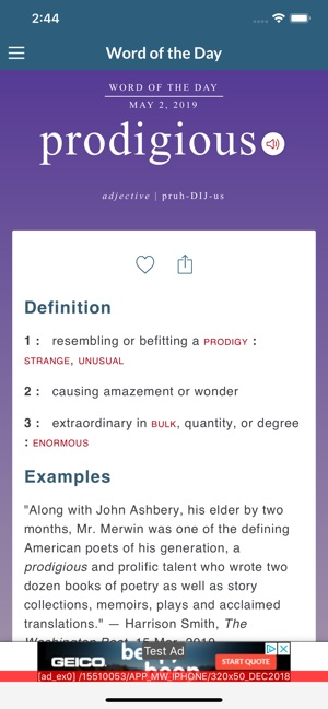 Merriam-Webster Dictionary on the App Store