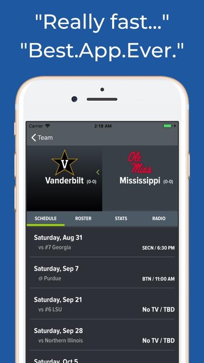 Mississippi Football Schedules screenshot-8