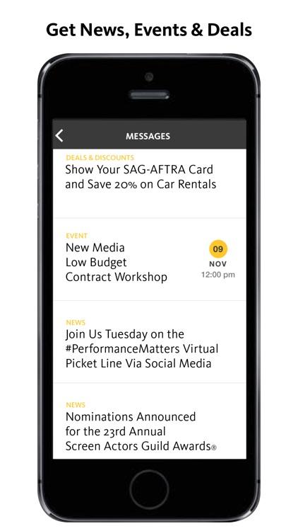 SAG-AFTRA Member App screenshot-3