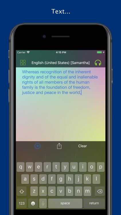 Aloud! - Text to speech screenshot-0