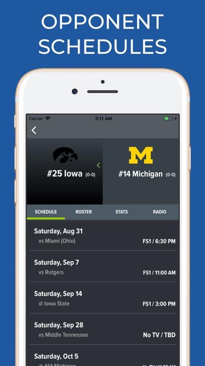 Michigan Football Schedules screenshot-6