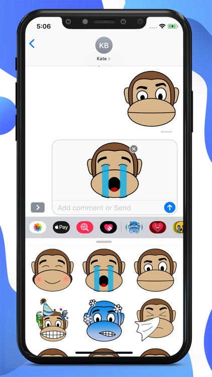 Monkey Cartoon Stickers