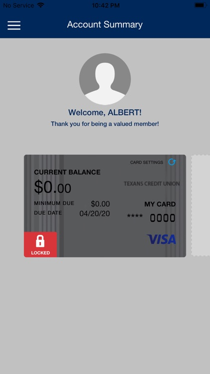 Texans Visa Card