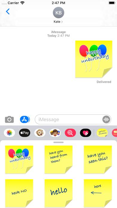 yellow stickies screenshot 1