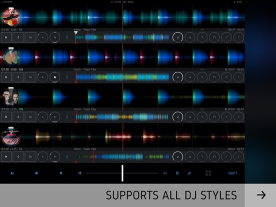 DJ Player Professional : pro DJ app to mix your music and record your mixes screenshot