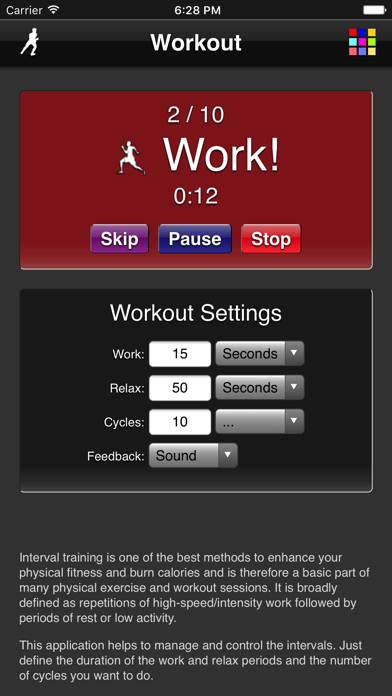 Workout screenshot one