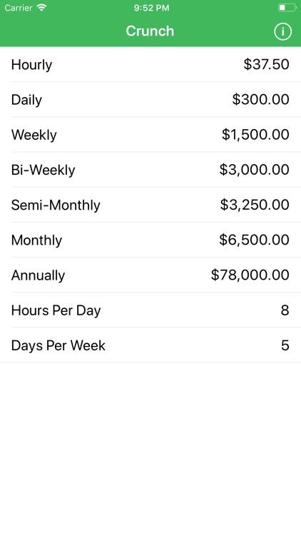 Crunch Salary/Wage Calculator screenshot-3