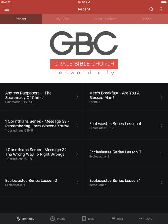 Grace Bible Church - CA screenshot 4
