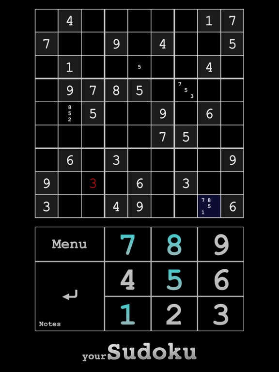 Screenshot #4 pour yourSudoku - Over 10k sudoku