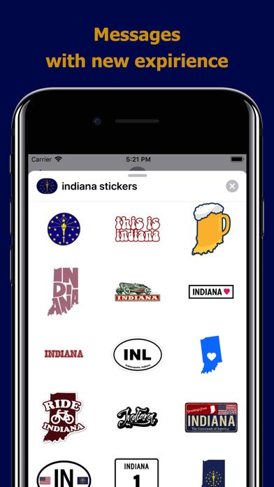 Indiana emojis - USA stickers screenshot 3