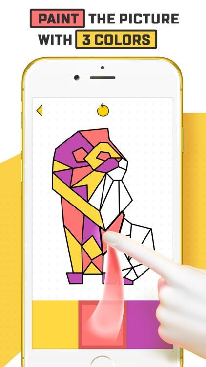 Trio - Polygon Coloring Puzzle screenshot-0