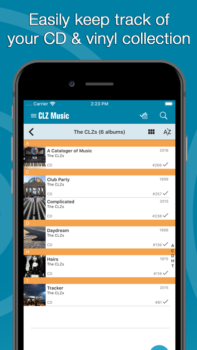 Screenshot #1 pour CLZ Music - Music Database