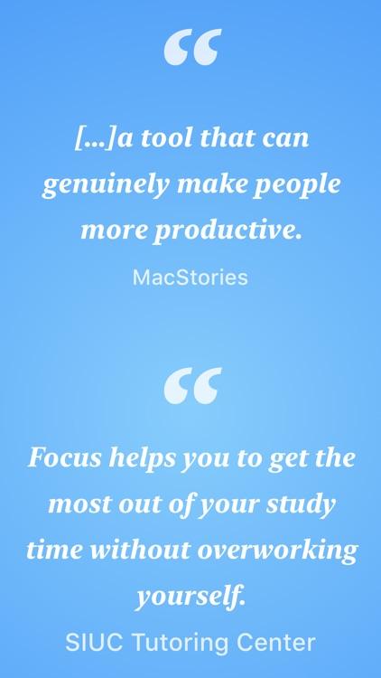 Focus - Time Manager screenshot-3