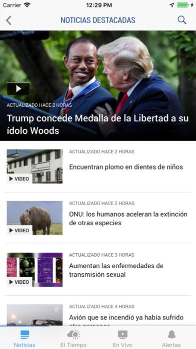 Telemundo 52 Screenshot on iOS