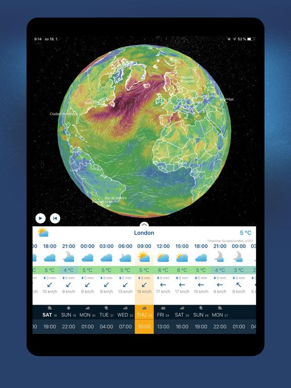 Ventusky: 3D Weather Maps Screenshots