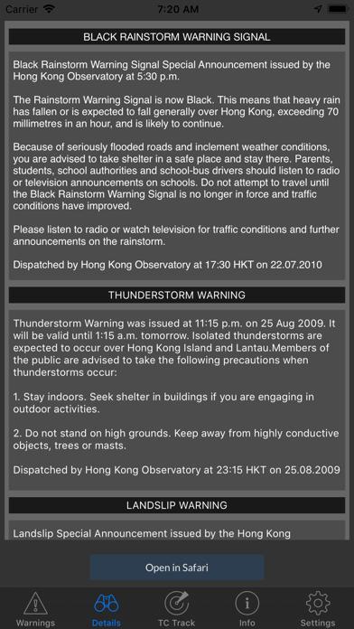Screenshot #2 pour HKWarnings