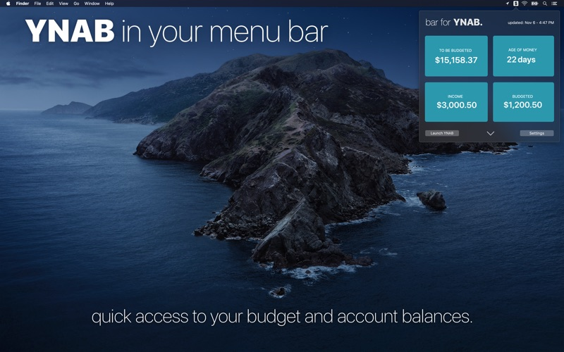 bar for YNAB for Mac