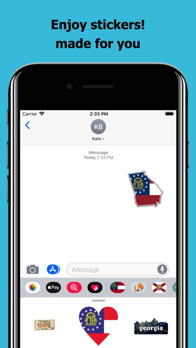 Georgia emojis - USA stickers screenshot 5